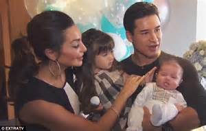 Mario Lopez introduces two-month-old son Dominic and says ...