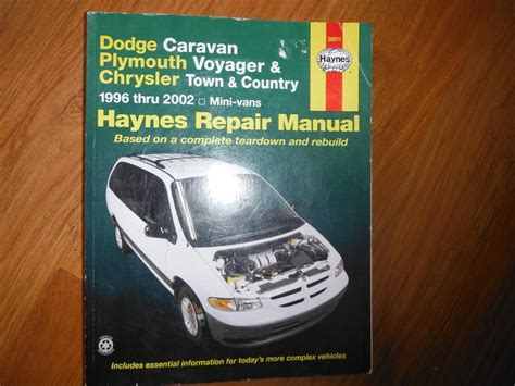 free car repair manuals 1992 plymouth voyager instrument cluster 1996 2002 dodge caravan voyager chrysler t c service manual central nanaimo parksville