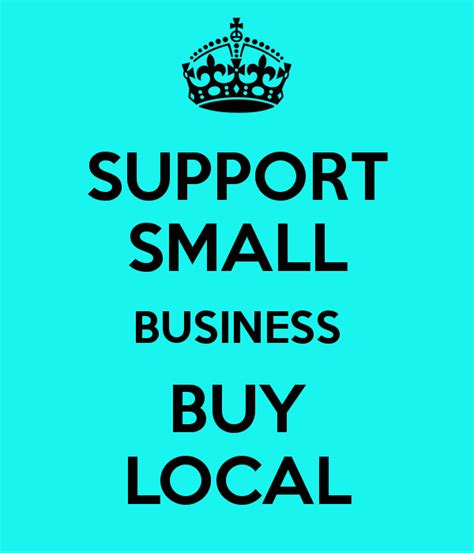 Support Small Business Buy Local Poster  Monica Keep