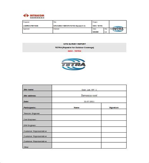 survey report template    documents