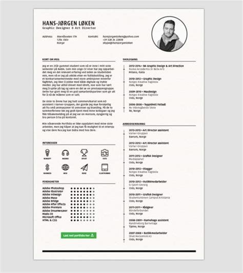photoshop resume template 24 templates de cv sur photoshop