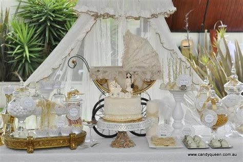 Vintage And Elegant Baby Shower By Candy Queen Classy