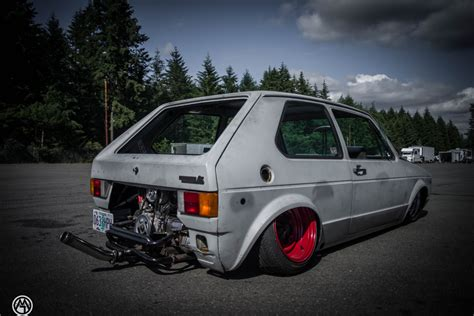 rabbit volkswagen vw rabbit golf mk i sitting on custom beetle frame is a