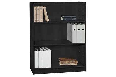Black 3 Shelf Bookcase by Universal 3 Shelf Bookcase In Classic Black By Bush At