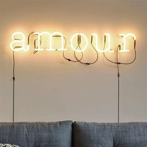 applique murale neon art amour transformateur blanc