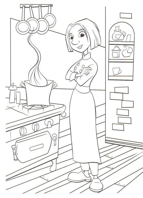 dessin de cuisine à imprimer coloriage a imprimer ratatouille colette dans la cuisine