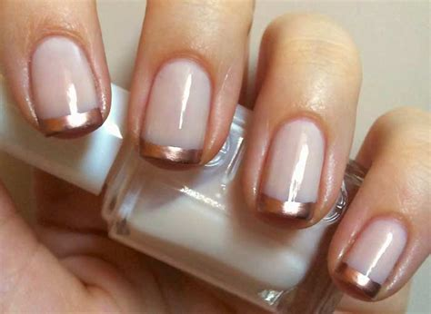 french manicure  glitter gold silver  designs