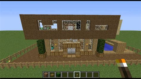 minecraft maison en bois minecraft maison moderne bois bonus