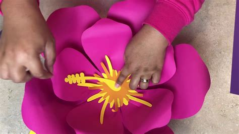 easily  paper flower template  hibiscus