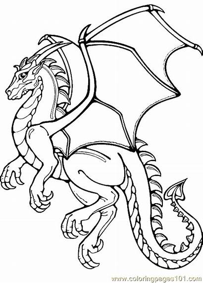Coloring Dragon Pages Printable Fantasy Realistic Potter