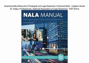 Download Nala Manual For Paralegals And Legal Assistants