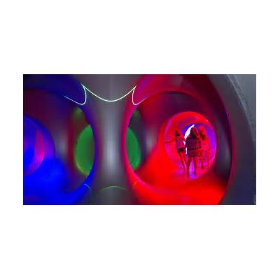 Guests preview Architects of Air's Katena Luminarium at