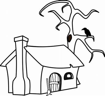 Witch Cottage Clipart Svg Clip Log Drawing