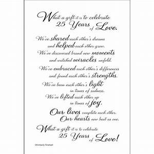 25th anniversary quotes for parents quotesgram for 25th wedding anniversary poems