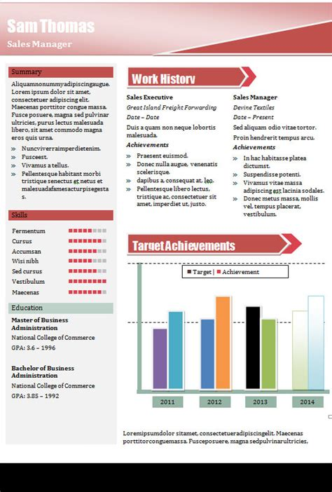 sample creative resume  documents  word