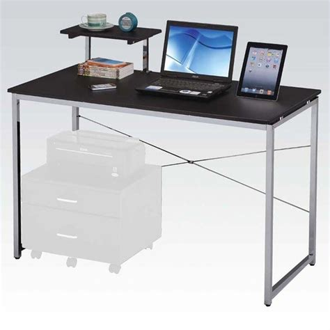 small glass top computer desk solo small glass top computer desk in black d31s29b