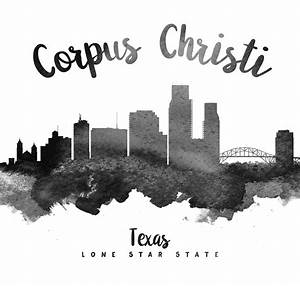 Corpus Christi Texas Skyline 18 Painting by Aged Pixel