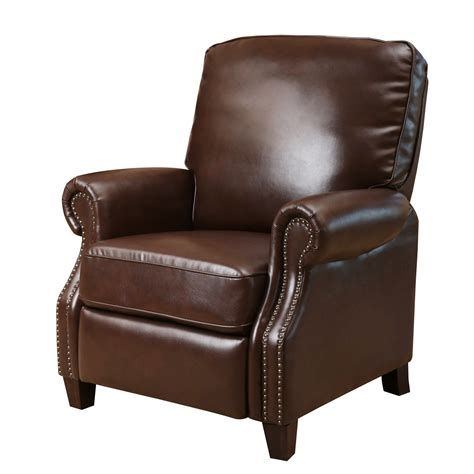 push back recliner chair three posts wheatland push back leather recliner reviews 4460