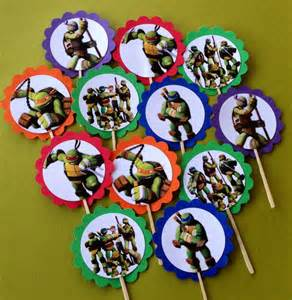 tmnt cake topper items similar to mutant turtles tmnt cupcake