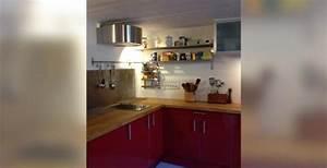 revgercom deco cuisine bois et rouge idee inspirante With awesome meuble de cuisine en bois rouge 0 cuisine moderne en bois