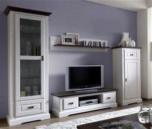 Möbel Weiß Holz : massivholz wohnwand als set bestehend aus mehreren teilen ~ Eleganceandgraceweddings.com Haus und Dekorationen