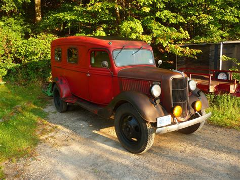 RARE 1936 FORD DUALLY PANEL TRUCK RAT ROD BIKE HAULER