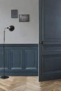 patiner une porte avec peinture effet m 233 tal poudr 233 bleu cosmos