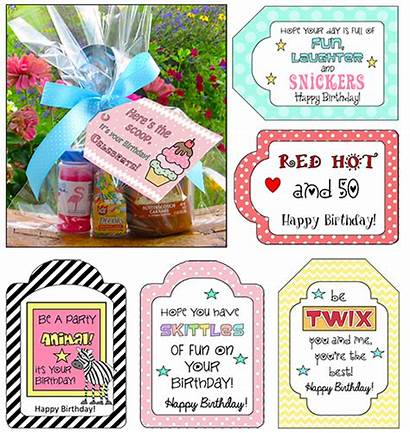 Candy Birthday Tags Quotes Saying Gift Printable