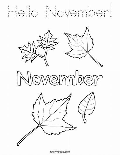 November Coloring Hello Pages Twisty Noodle Twistynoodle