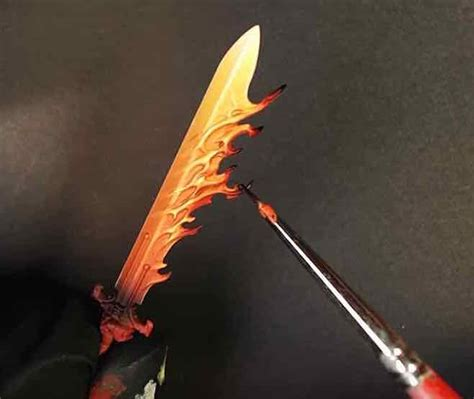 3 Easy Steps To Painting Your Very Own Flaming Sword