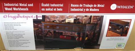 costco whalen industrial metal wood workbench
