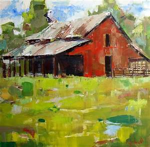 quotbig red barnquot original oil painting by alabama artist With barn painting cost
