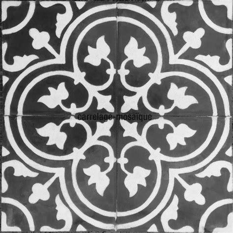 credence murale cuisine vrai carreau ciment pas cher lys noir carrelage mosaique