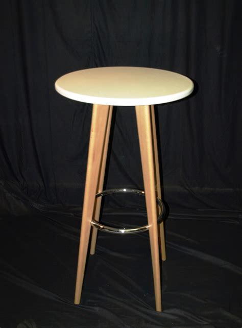 High Tables by White Wooden High Table