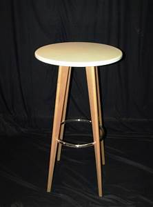 White, Wooden, High, Table