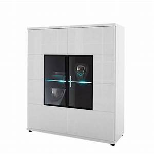Kleiderschrank Zweitürig Weiß : highboard corana zweit rig hochglanz wei ohne beleuchtung ~ Markanthonyermac.com Haus und Dekorationen