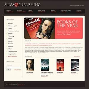 publishing company website template 22455 With publisher website template
