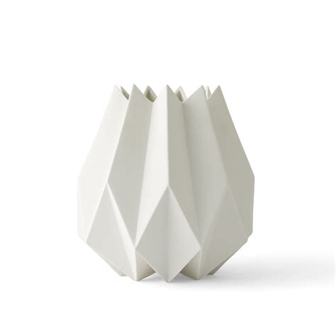 White Vase by Folded Vase By Menu In The Shop