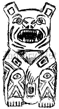 Totem Pole Bear Template by Bear Totem Pole Drawing