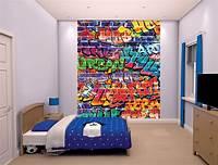 great kids bedroom mural XL Graffiti Wallpaper Mural For Children Walltastic