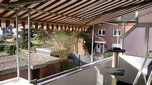 Markise befestigen balkon ek11 hitoiro for Markise balkon mit kratzschutz katzen tapete