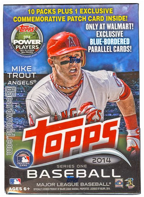 Find out how much they worth. 2014 Topps Series 1 Baseball 10-Pack Box (PLUS One Patch Card!) | DA Card World