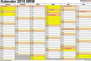 Vorlage 3 Kalender 2015 Für NRW Als ExcelVorlagen