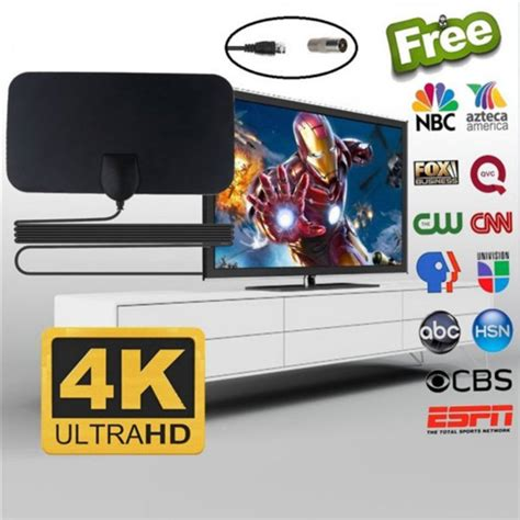 200 Miles Long Range TV Antenna Freeview Local Channels ...