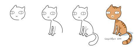 draw  cat lingvistov doodle style lingvistov