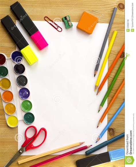 fourniture de bureau colorful border royalty free stock image image 22695746