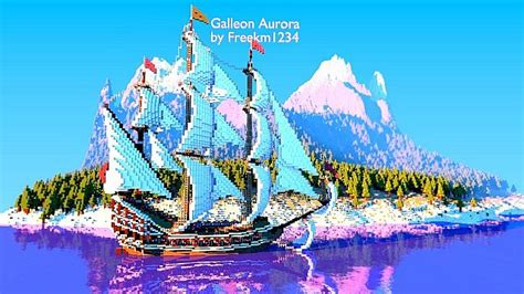 galleon aurora ship minecraft building