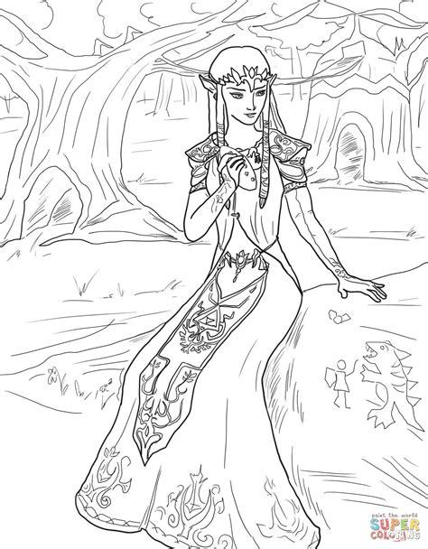 princess zelda coloring page  printable coloring pages
