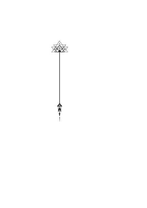 Tatto Ideas 2017 - 4- wrist with LIT written vertical beside: Geometric triangle arrow tattoo