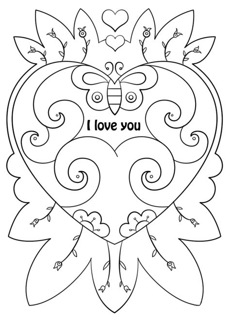 Coloring For You by Printable Valentines Day Cards Best Coloring Pages For